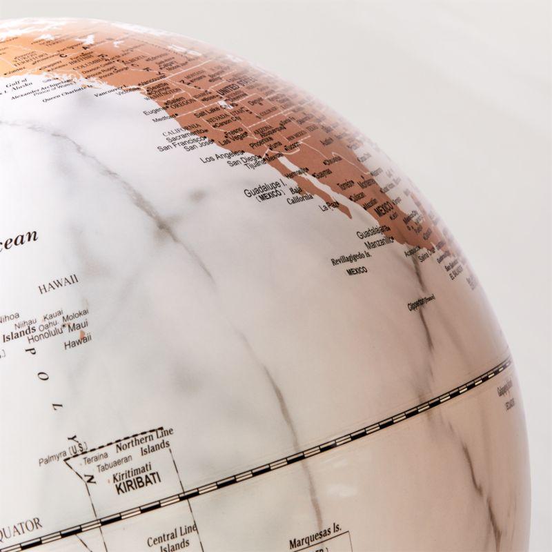 White Marble Globe