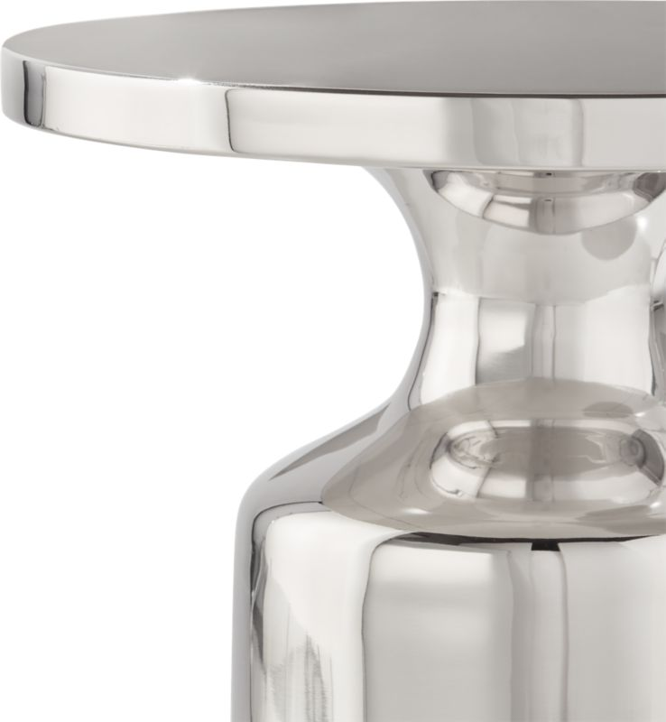 Cheval Polished Silver Side Table