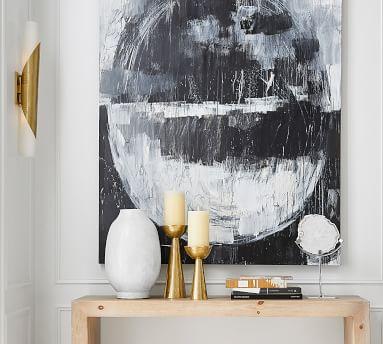 Deane Glass Double Tube Sconce, Modern Brass