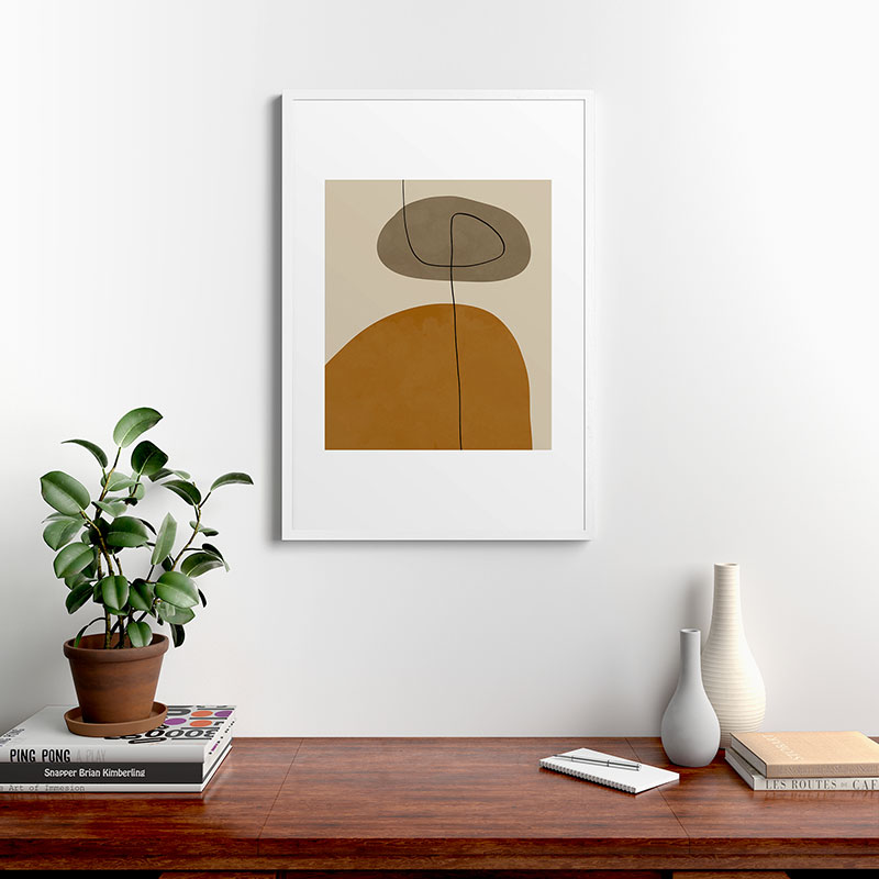 "Organic Abstract Shapesii by Alisa Galitsyna - Modern Framed Art Print, White, 24"" x 36"""