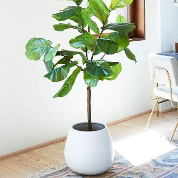 Pure White Ceramic Planter, Small