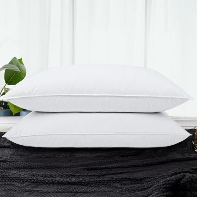 Puredown Goose Down and Feather King Pillows (Set of 2), White
