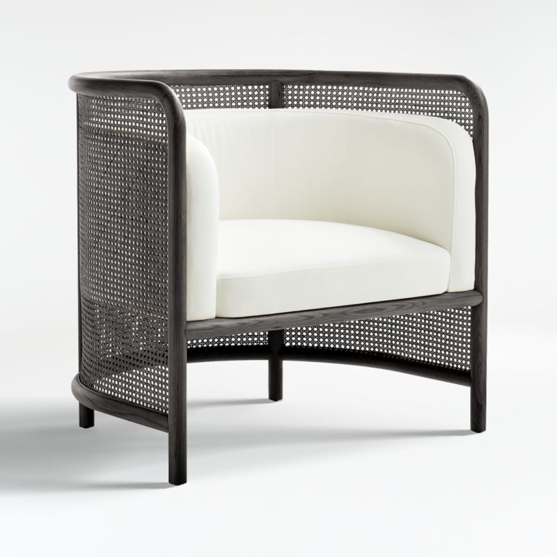 Fields Cane Black and White Chair
