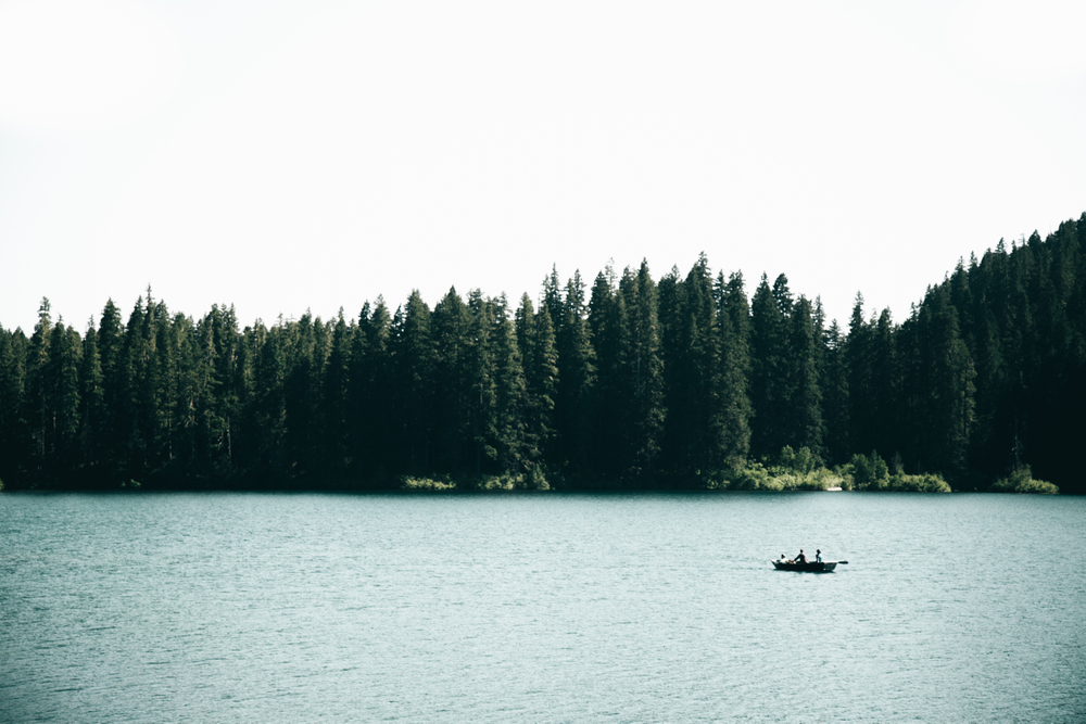 Lake Days Framed Art Print by Hannah Kemp - Conservation Walnut - LARGE (Gallery)-26x38