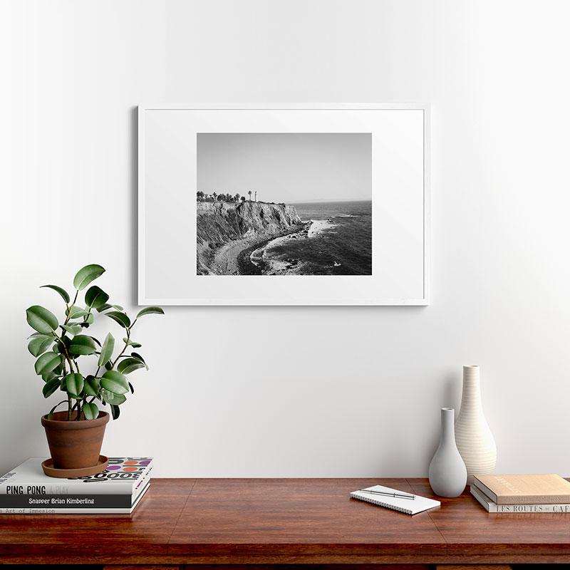 "Palos Verdes by Ann Hudec, Modern Framed Art Print, White, 24"" x 36"""