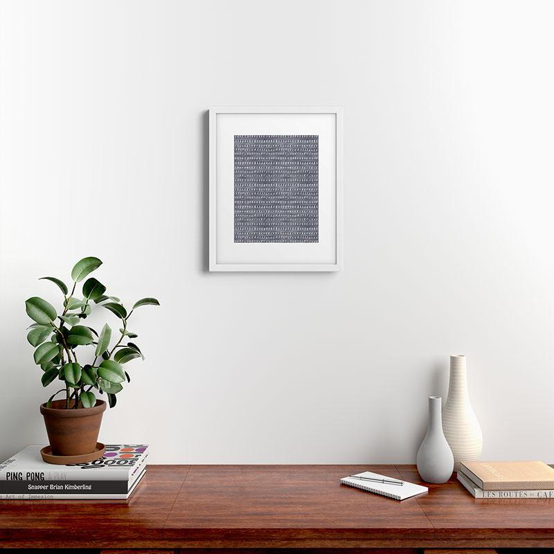 """Bogo Denim Rain Light by Holli Zollinger, Modern Framed Art Print, White,16"""" x 20"""""""