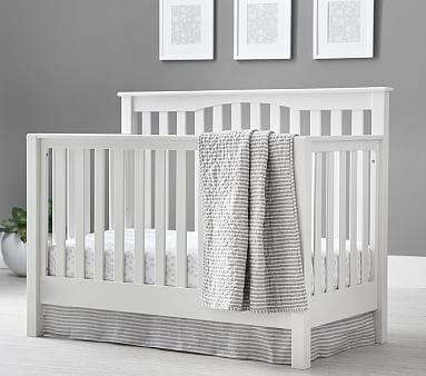 Kendall 4-in-1 Convertible Crib & Lullaby Supreme Mattress Set, Weathered White