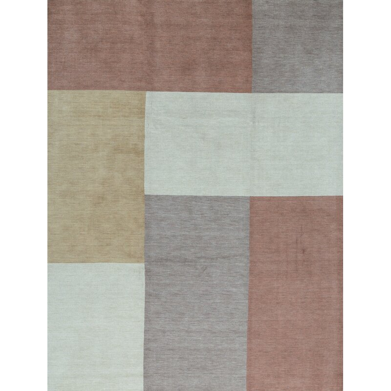 Bokara Rug Co Inc Gabbeh Geometric Hand Knotted Wool Multicolor Area Rug Perigold