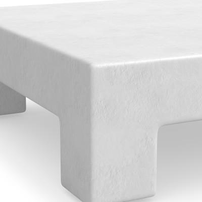Matte White Square Coffee Table, 48, Wood, Matte White, Gesso White