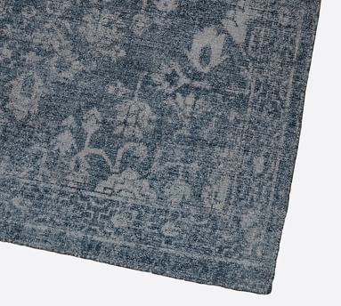 Damion Printed Handwoven Rug, 8' x 10', Indigo