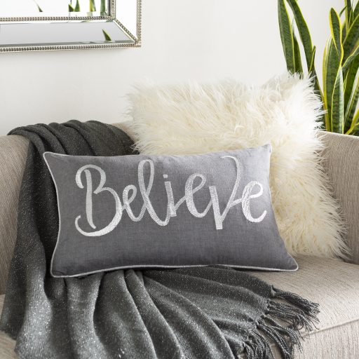 """Believe - BVE-001 - 14"""" X 22"""" - pillow cover only"""
