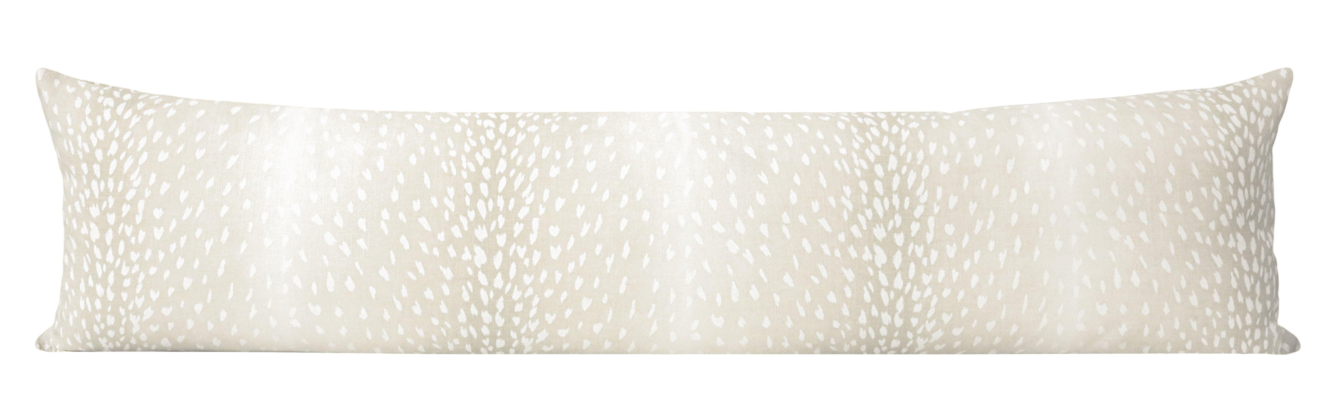 "The XL Lumbar :: Antelope Linen Print // Cashmere - 14"" X 48"""