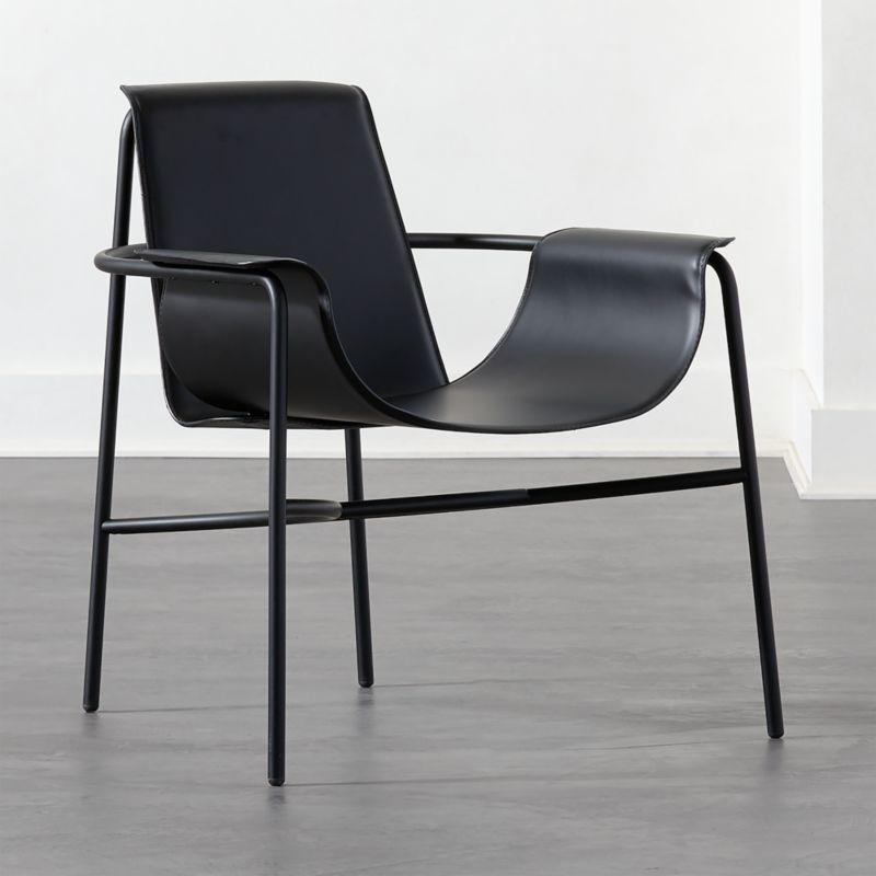 Gemini Black Lounge Chair