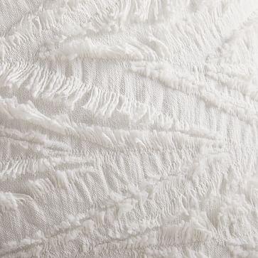 """Cotton Eyelash Pillow Cover, 20""""x20"""", White, Set of 2"""