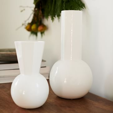 Porcelain Urn Vase, Large, White