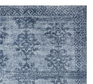 Beryl Printed Handwoven Rug, 6' x 9', Chambray
