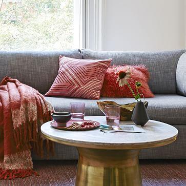 Shelter Sleeper Sofa, Fabric and Color:Storm Gray, Performance Coastal Linen