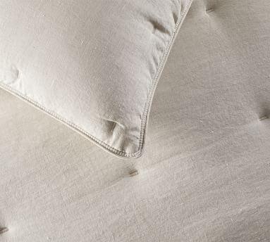 Belgian Flax Linen Sham, Standard, White