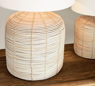 Cambria Seagrass Table Lamp with Small SS Gallery Shade, Small
