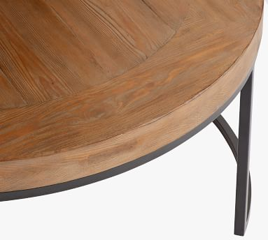 Malcolm Round Nesting Coffee Tables, Glazed Pine - Set of 2