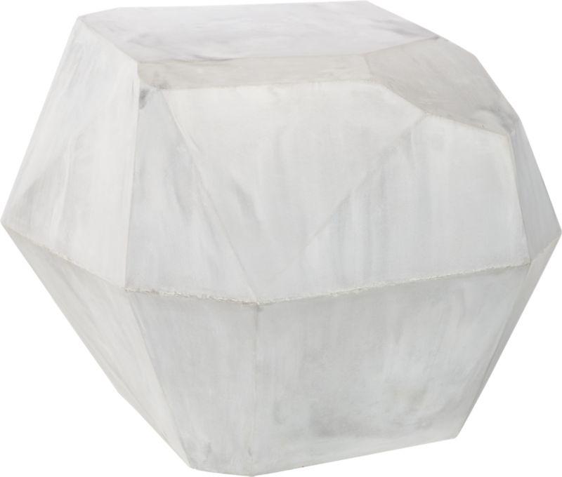 Facet Cement Side Table