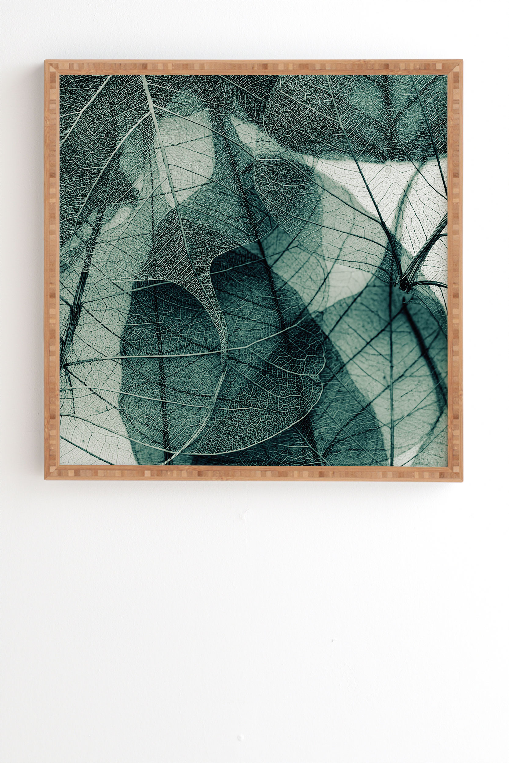 """Olive Green by Ingrid Beddoes - Framed Wall Art Bamboo 11"""" x 13"""""""