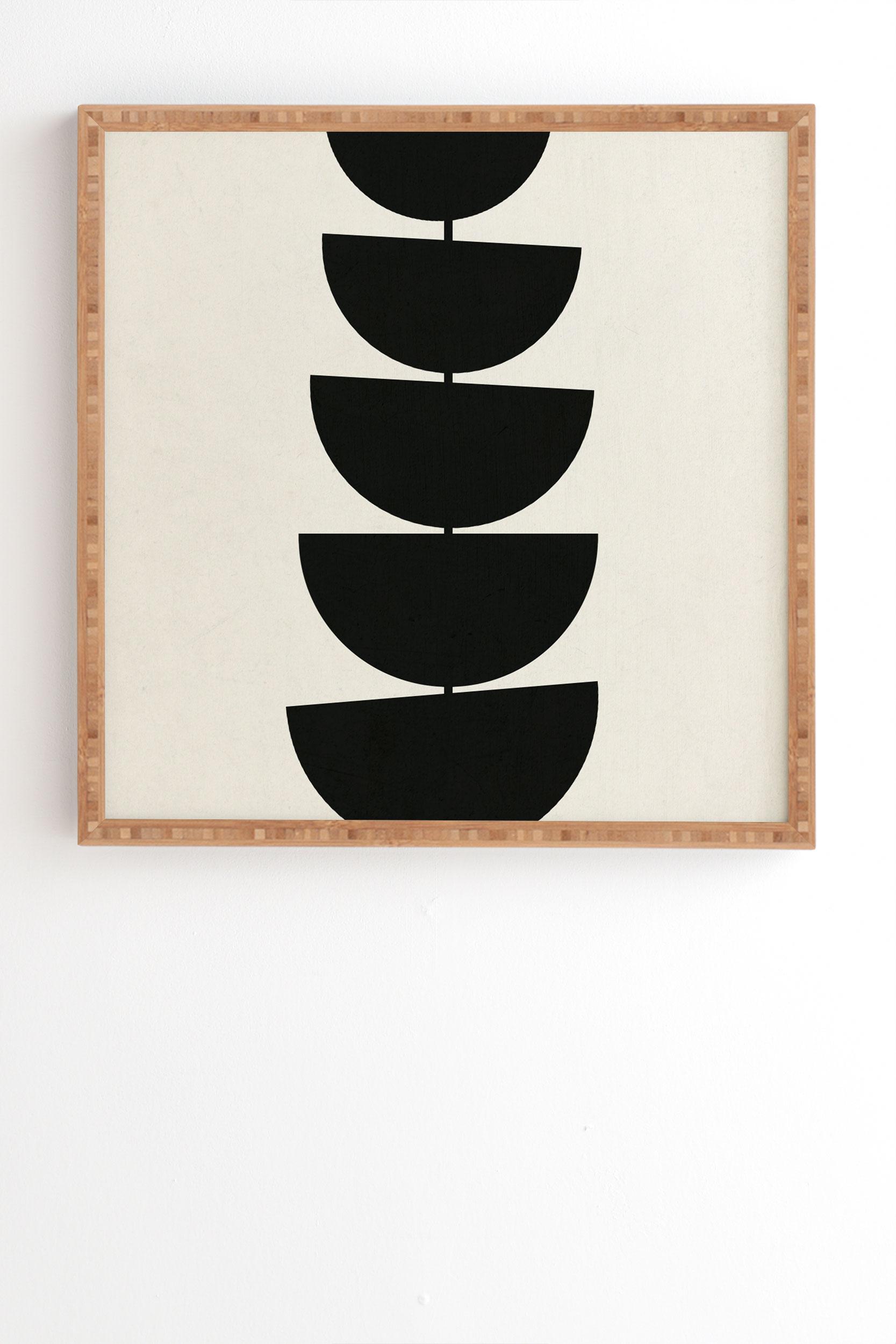 "Stem by Rose Beck - Framed Wall Art Bamboo 19"" x 22.4"""