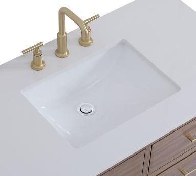 """Walnut Brown Rhine Single Sink Vanity, 42"""""""