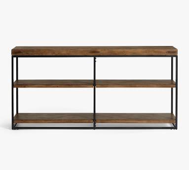 Malcolm Double Console Bookcase, Glazed Pine