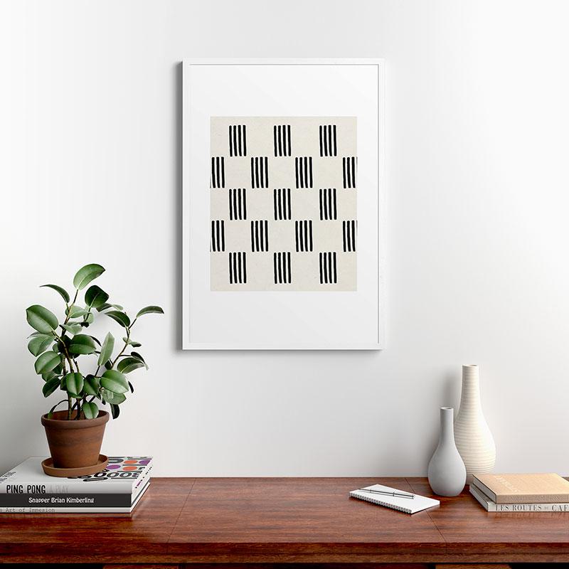 "Formation by Rose Beck, Modern Framed Art Print, White, 24"" x 36"""