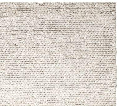 Chunky Knit Sweater Rug, 9 x 12', Heathered Oatmeal