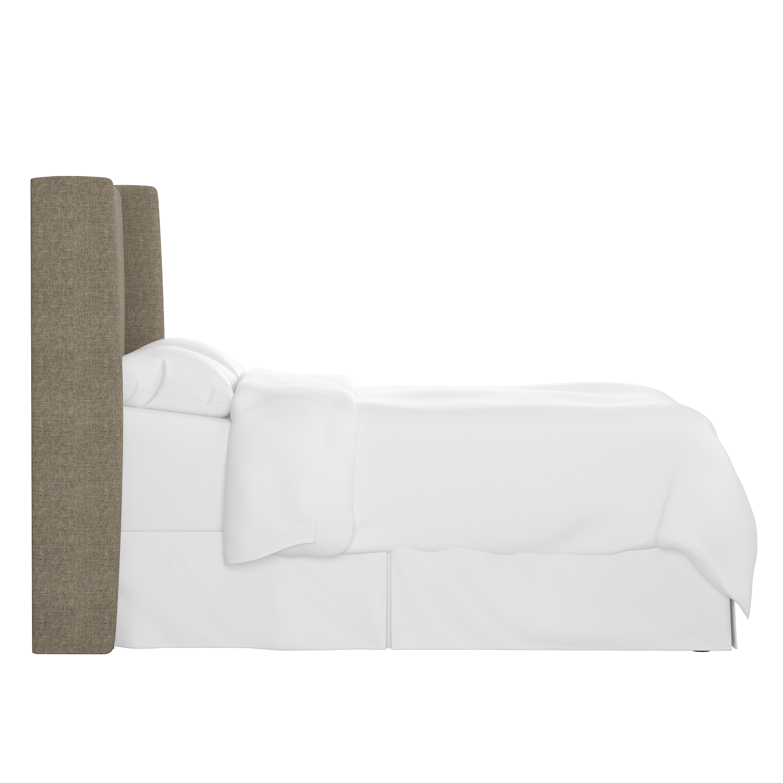Bannock Wingback Headboard, King, Linen