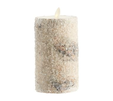 "Premium Flicker Flameless Wax Candle, Sugared Birch, 4x4.5"""