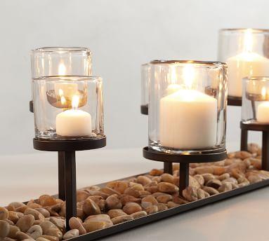 Draper Multi Pillar Candle Centerpiece, Bronze