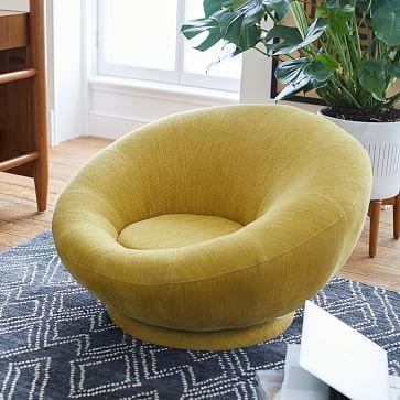 Groovy Swivel Chair, Dark Horseradish