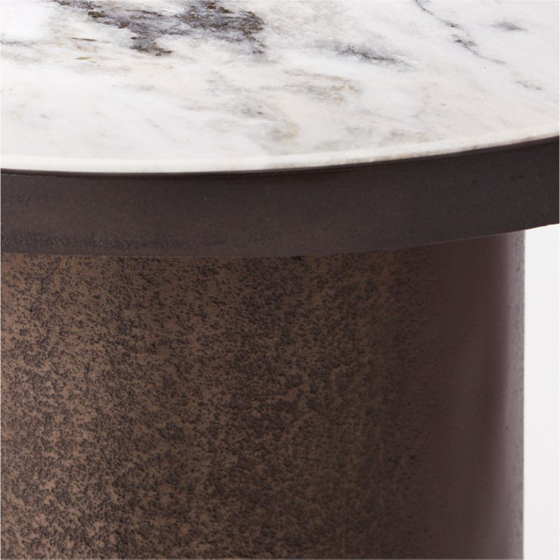 Discus Round Marble Side Table
