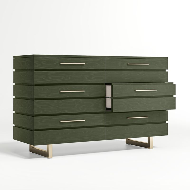 Kids Jewel Wide Dark Green Dresser