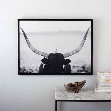"Staredown No. 2, 40""x30"", Black Wood Frame"