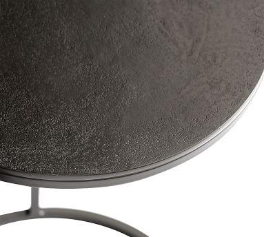 Duke Metal C-Table, Bronze Glass