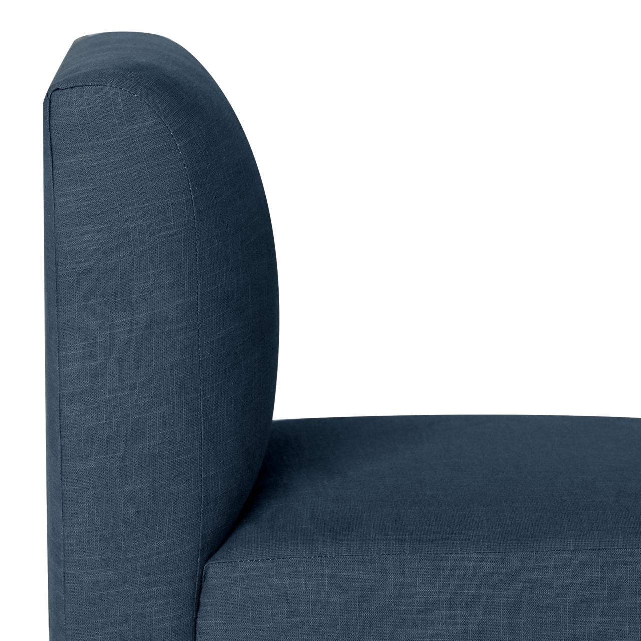 Dahlia Dining Chair, Linen Navy