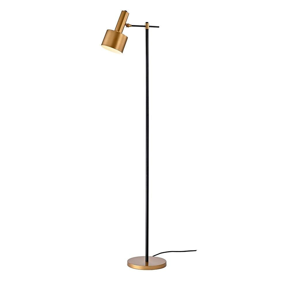Warehouse Of Tiffany Stery 63 In 1 Light Indoor Black And Gold Finish Floor Lamp With Light Kit Home Depot