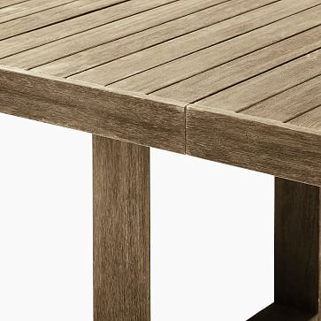 """Portside Outdoor 74""""-106"""" Expandable Dining Table, Driftwood"""