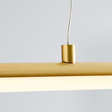 Light Rods LED Pendant, Antique Brass