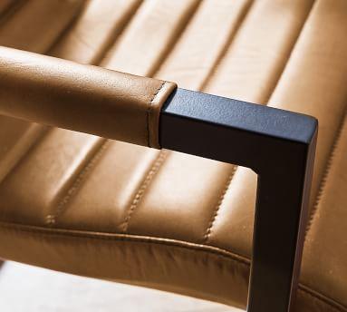 Sabina Leather Desk Chair, Camel