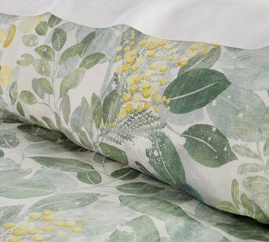 Multi Botanical Garden Organic Cotton Duvet Cover, Full/Queen