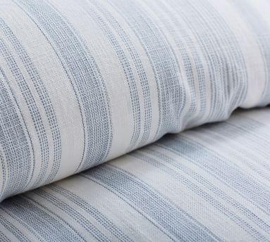 Hawthorn Stripe Cotton Duvet Cover, King/Cal King, Blue