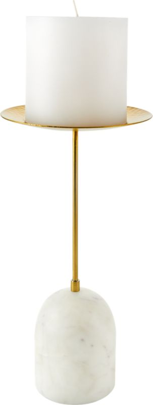 Numa Marble and Brass Candle Stands Set of 2