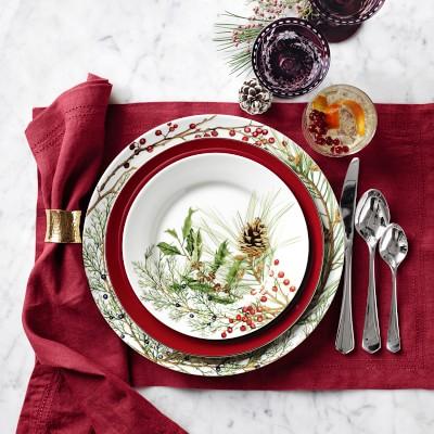 Woodland Berry Salad Plates, Set of 4, Pomegranate