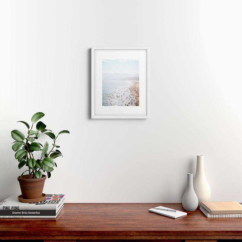 "La Summer by Bree Madden, Modern Framed Art Print, White, 16"" x 20"""