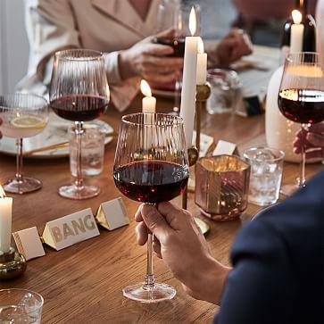 Esme Glassware, White Wine, Pink, Set of 4